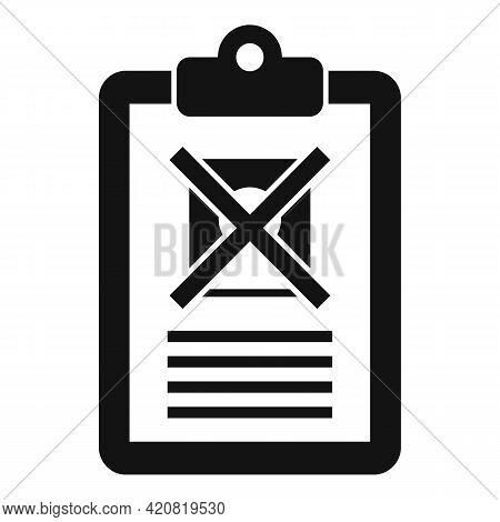 Jobless Man Clipboard Icon. Simple Illustration Of Jobless Man Clipboard Vector Icon For Web Design