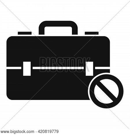 Jobless Briefcase Icon. Simple Illustration Of Jobless Briefcase Vector Icon For Web Design Isolated