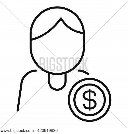 Employee Benefit Icon. Outline Employee Benefit Vector Icon For Web Design Isolated On White Backgro