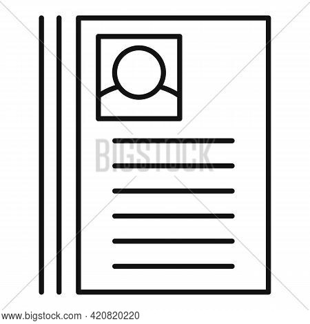 Cv Paper Icon. Outline Cv Paper Vector Icon For Web Design Isolated On White Background
