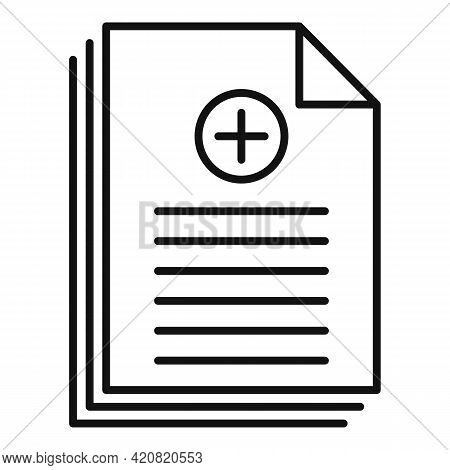 Benefit Job Paper Icon. Outline Benefit Job Paper Vector Icon For Web Design Isolated On White Backg