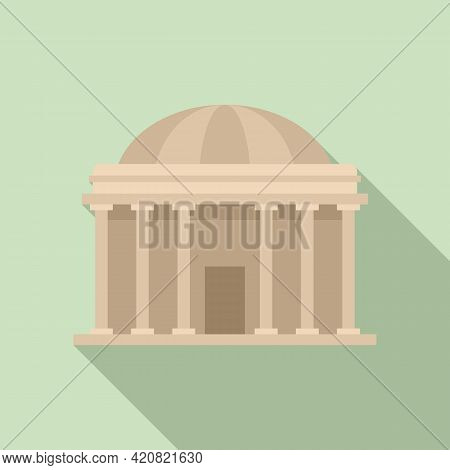 Courthouse Icon. Flat Illustration Of Courthouse Vector Icon For Web Design