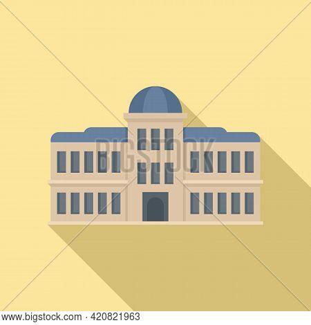 Parliament Architecture Icon. Flat Illustration Of Parliament Architecture Vector Icon For Web Desig