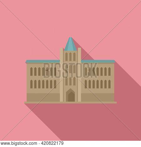 Parliament Facade Icon. Flat Illustration Of Parliament Facade Vector Icon For Web Design