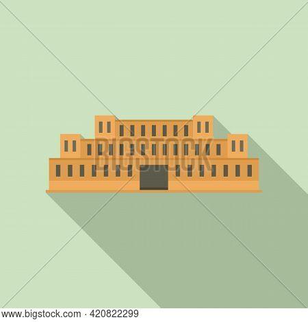 Parliament Estate Icon. Flat Illustration Of Parliament Estate Vector Icon For Web Design