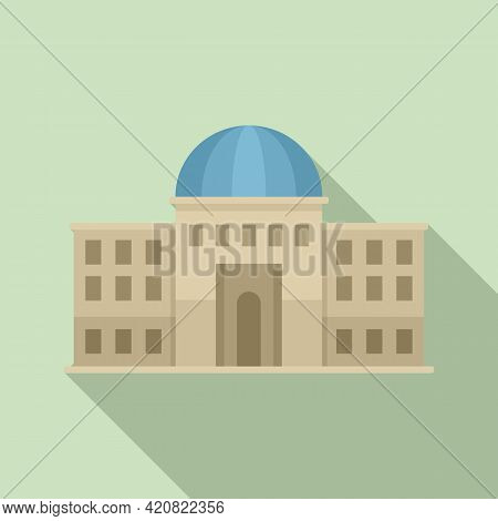 Palace Parliament Icon. Flat Illustration Of Palace Parliament Vector Icon For Web Design