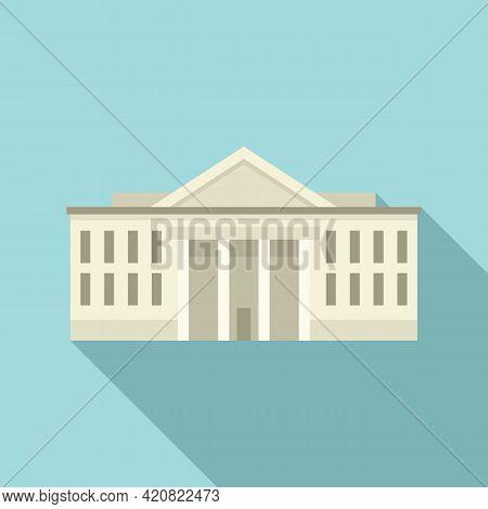 Municipal Building Icon. Flat Illustration Of Municipal Building Vector Icon For Web Design
