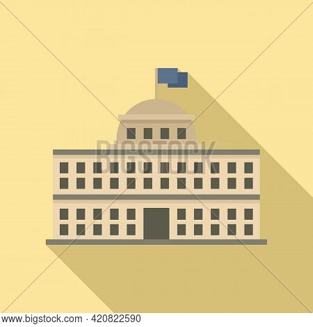 Parliament Landmark Icon. Flat Illustration Of Parliament Landmark Vector Icon For Web Design
