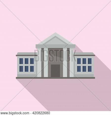 Public Parliament Icon. Flat Illustration Of Public Parliament Vector Icon For Web Design