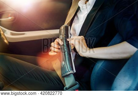 Travel Safety And Life Insurance Concept : Car Seat Belt Is A Safe Use For Cars That Should Not Be O