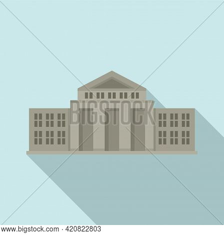 Parliament Court Icon. Flat Illustration Of Parliament Court Vector Icon For Web Design