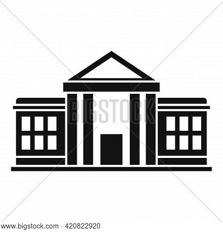 Parliament Icon. Simple Illustration Of Parliament Vector Icon For Web Design Isolated On White Back