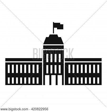 Town Parliament Icon. Simple Illustration Of Town Parliament Vector Icon For Web Design Isolated On