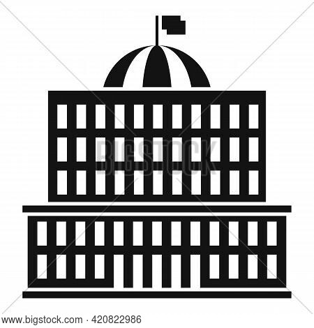 Courthouse Icon. Simple Illustration Of Courthouse Vector Icon For Web Design Isolated On White Back