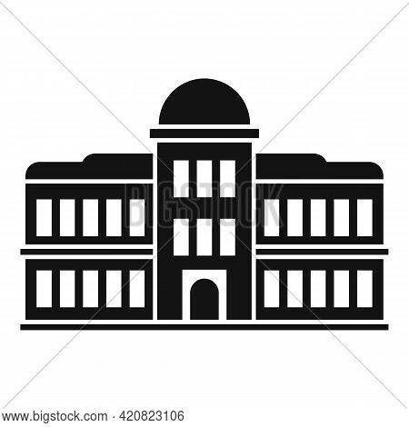 Parliament Facade Icon. Simple Illustration Of Parliament Facade Vector Icon For Web Design Isolated