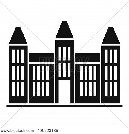 City Hall Building Icon. Simple Illustration Of City Hall Building Vector Icon For Web Design Isolat