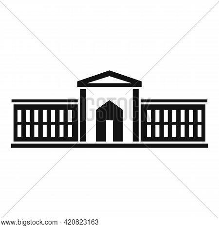 Parliament Estate Icon. Simple Illustration Of Parliament Estate Vector Icon For Web Design Isolated