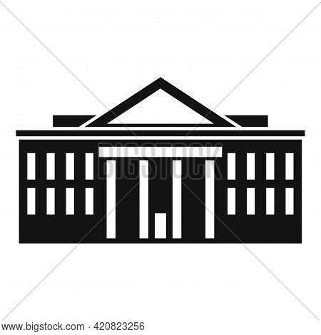 Cityscape Parliament Icon. Simple Illustration Of Cityscape Parliament Vector Icon For Web Design Is
