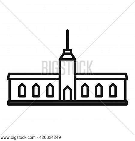 Parliament Hall Icon. Outline Parliament Hall Vector Icon For Web Design Isolated On White Backgroun