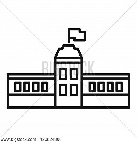 Capitol Parliament Icon. Outline Capitol Parliament Vector Icon For Web Design Isolated On White Bac