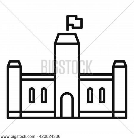 Parliament House Icon. Outline Parliament House Vector Icon For Web Design Isolated On White Backgro