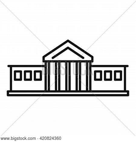 City Hall Building Icon. Outline City Hall Building Vector Icon For Web Design Isolated On White Bac