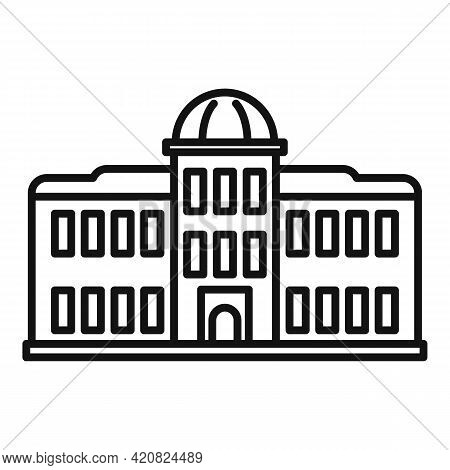 Palace Parliament Icon. Outline Palace Parliament Vector Icon For Web Design Isolated On White Backg