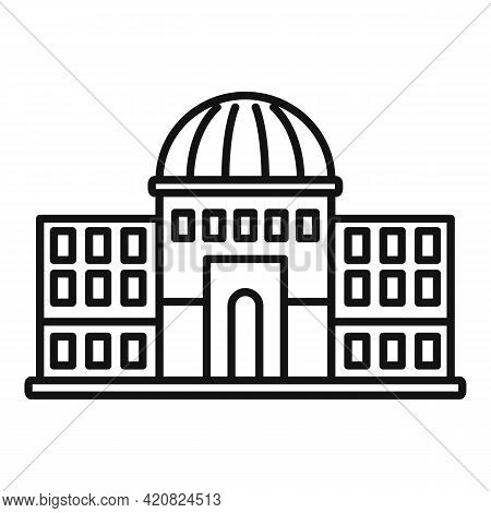 Governance Building Icon. Outline Governance Building Vector Icon For Web Design Isolated On White B