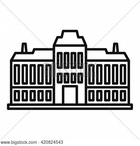 Municipal Building Icon. Outline Municipal Building Vector Icon For Web Design Isolated On White Bac
