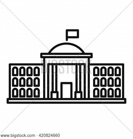 Parliament Court Icon. Outline Parliament Court Vector Icon For Web Design Isolated On White Backgro