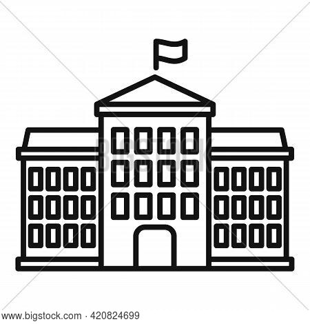 Tower Parliament Icon. Outline Tower Parliament Vector Icon For Web Design Isolated On White Backgro