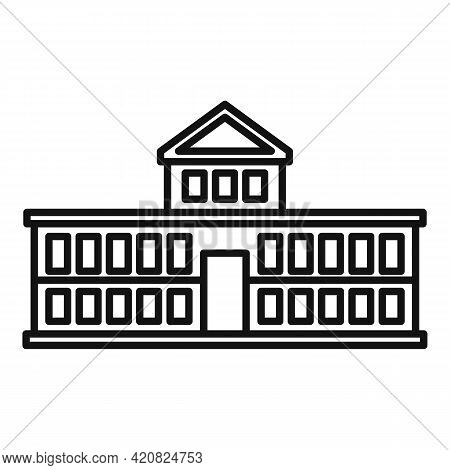 Parliament Attraction Icon. Outline Parliament Attraction Vector Icon For Web Design Isolated On Whi