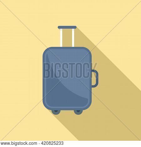 Baggage Tourist Icon. Flat Illustration Of Baggage Tourist Vector Icon For Web Design