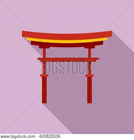 China Sightseeing Icon. Flat Illustration Of China Sightseeing Vector Icon For Web Design