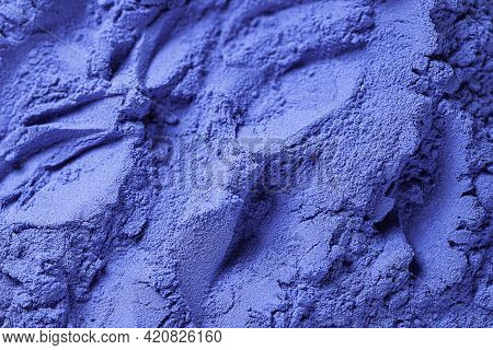 Blue Spirulina Powder. Concept Dieting, Detox, Healthy Superfood, Which Contains Protein. Healthy Di