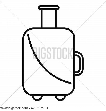 Baggage Tourist Icon. Outline Baggage Tourist Vector Icon For Web Design Isolated On White Backgroun