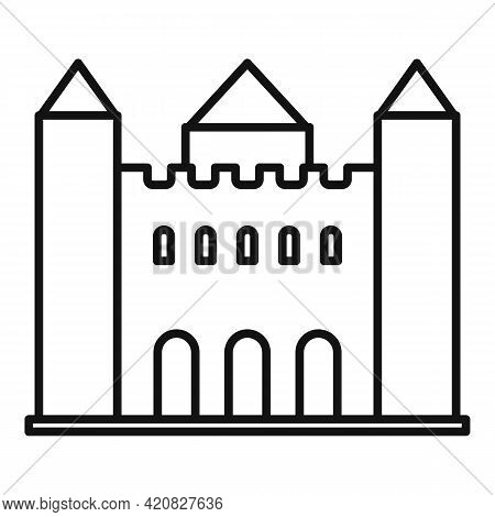 Urban Sightseeing Icon. Outline Urban Sightseeing Vector Icon For Web Design Isolated On White Backg