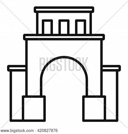 Cityscape Sightseeing Icon. Outline Cityscape Sightseeing Vector Icon For Web Design Isolated On Whi