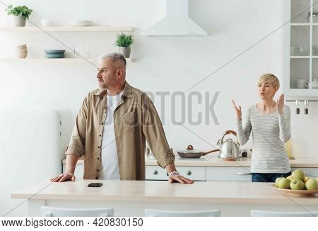 Difficulties And Problems In Relationships, Scandal In Kitchen During Covid-19 Lockdown At Home