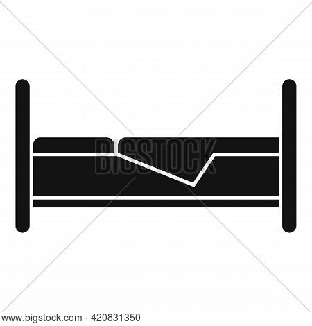 Nursing Bed Icon. Simple Illustration Of Nursing Bed Vector Icon For Web Design Isolated On White Ba