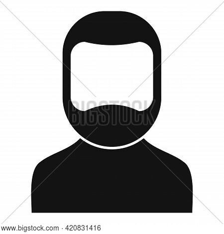 Senior Man Icon. Simple Illustration Of Senior Man Vector Icon For Web Design Isolated On White Back