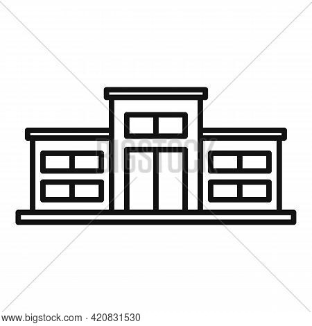 Nursing Home Icon. Outline Nursing Home Vector Icon For Web Design Isolated On White Background