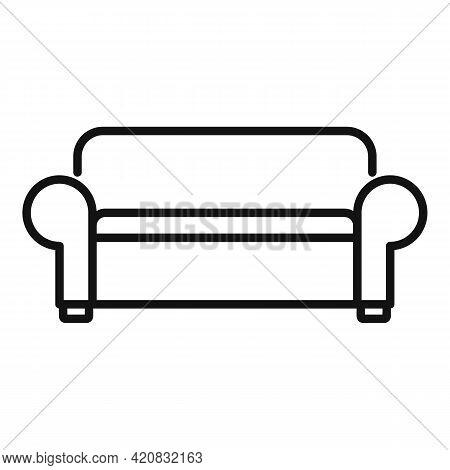 Nursing Sofa Icon. Outline Nursing Sofa Vector Icon For Web Design Isolated On White Background