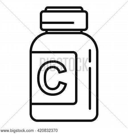 Nursing Vitamins Icon. Outline Nursing Vitamins Vector Icon For Web Design Isolated On White Backgro