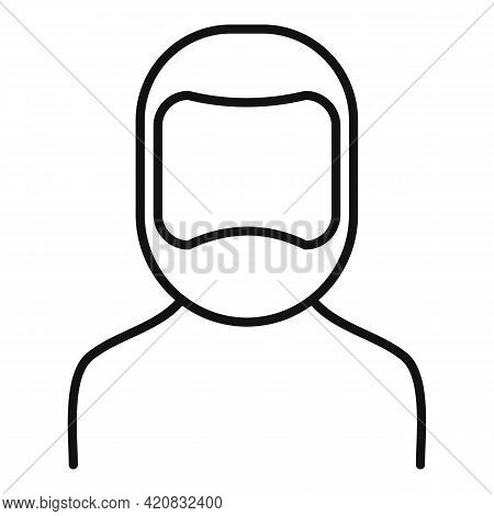 Senior Man Icon. Outline Senior Man Vector Icon For Web Design Isolated On White Background