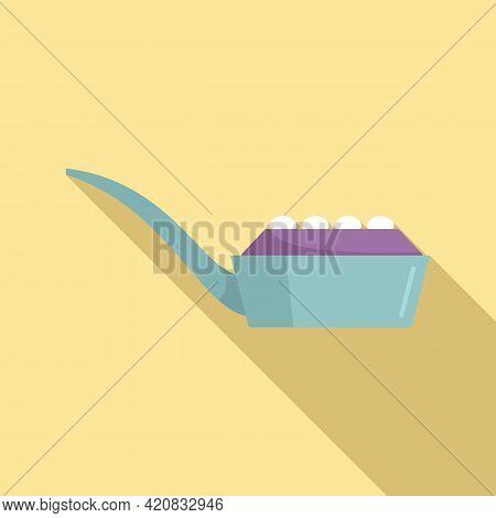 Molecular Cuisine Spoon Icon. Flat Illustration Of Molecular Cuisine Spoon Vector Icon For Web Desig