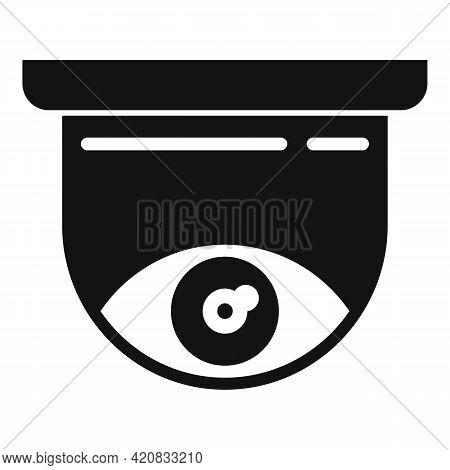 Security Indoor Camera Icon. Simple Illustration Of Security Indoor Camera Vector Icon For Web Desig