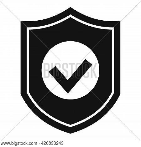 Security Service Shield Icon. Simple Illustration Of Security Service Shield Vector Icon For Web Des
