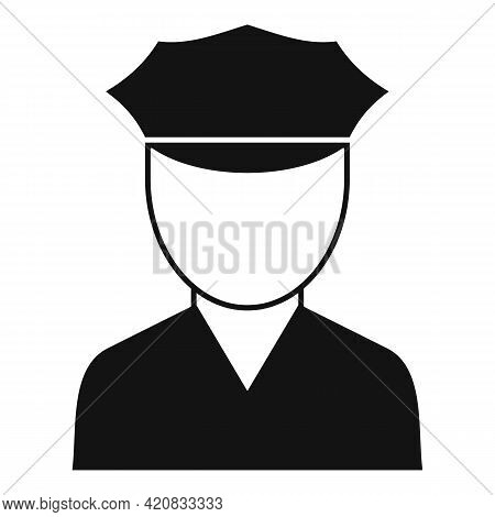 Security Service Guard Icon. Simple Illustration Of Security Service Guard Vector Icon For Web Desig