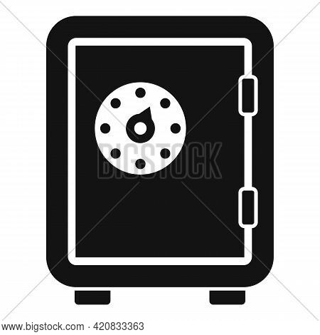 Security Service Money Safe Icon. Simple Illustration Of Security Service Money Safe Vector Icon For